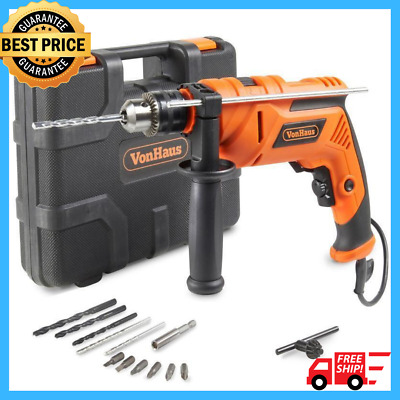 810W Corded Impact Drill Electric Screwdriver Powerful DIY Hammer Variable Case