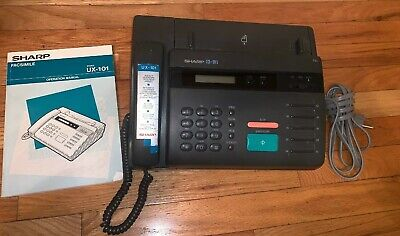 Sharp Plain Paper Personal Home Fax Model UX-101 Phone Gray Answering Machine