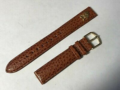 Lorus Mickey Mouse 14mm Brown Leather Wrist Watch Band - New