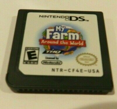 My Farm Around the World Nintendo DS 3DS 2DS Game Cart Tested