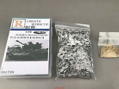 R-model Metal Pin and Metal Track For WWII U S M4A3E8 Sherman Tank T66 Track