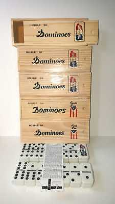 Dominoes Double Six Domino Puerto Rico Flag Or Island Doble Seis Wood Box, Pick