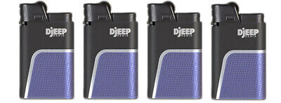 "4 x Djeep ""Soft Touch"" Lighters - Blue - Brand New, Same Day Express Shipping"