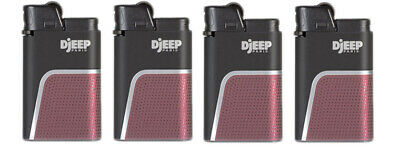 "4 x Djeep ""Soft Touch"" Lighters - RED - Brand New, Same Day Express Shipping"