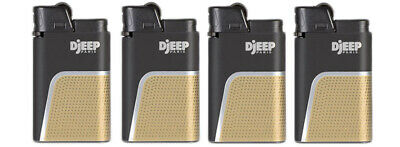 "4 x Djeep ""Soft Touch"" Lighters - GOLD - Brand New, Same Day Express Shipping"