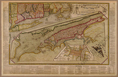 The City of New York c1821 map 36x24