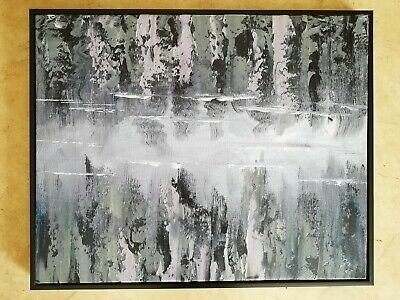 Hand made Modern abstract Oil Painting on Canvas  framed #D12