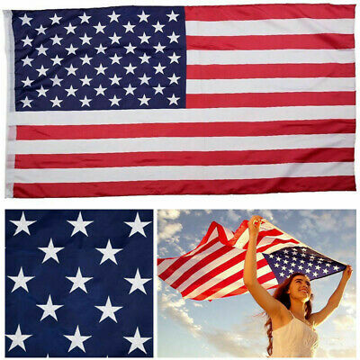 3'x 5' Polyester US FLAG Sliding on Pole Tube Opening without Grommets 608