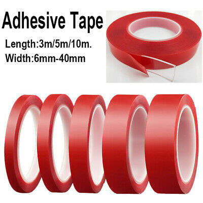 3/5/10M Clear Acrylic Adhesive Tape Invisible Transparent Double Sided