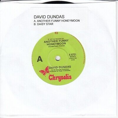"DAVID DUNDAS - ANOTHER FUNNY HONEYMOON / DAISY STAR 7"" 45rpm Record"