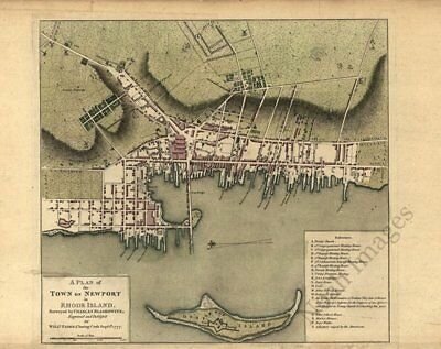 Plan of Newport RI c1777 map 20x16