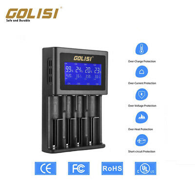 HB-D4S 4-Slots LCD Intelligent Battery Charger for 18490//17500//18350//16340 U1N1