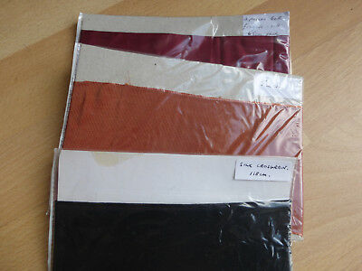 Fabric for arts and crafts, 3 small,vintage pieces, wrapped and labelled.
