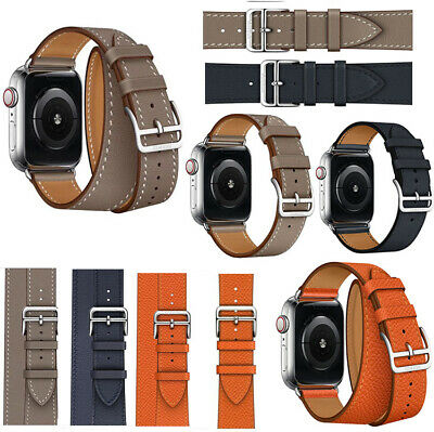 38/42mm 40/44mm Genuine Leather Apple Watch Band Strap For iWatch Series 4 3 2 1