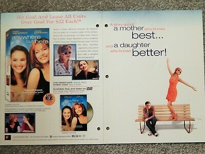Anywhere But Here (Video Dealer Brochure 1990S) Natalie Portman, Susan Sarandon
