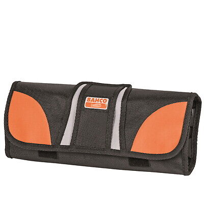 Bahco 12 Pocket Chisel Storage Roll Up Fabric Hand Tool Screwdriver, 4750-Roco-1