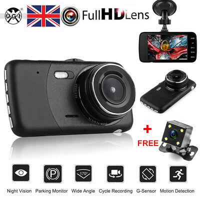 "4"" Vehicle HD 1080P Car Dashboard DVR Camera Video Recorder Dash Cam G-Sensor UK"