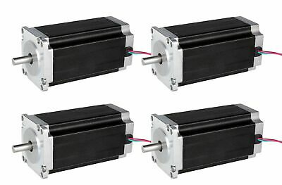 4PCS Nema 34 Stepper Motor 1232 oz.in bipolar 4wires 34HS1456 86BYGH CNC Table