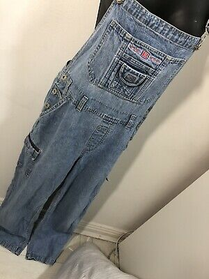 Vintage 1980s Denim Dungarees UK 12