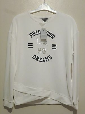 Matalan Girls L/S Candy Couture Follow Your Dreams Top Age 12 Years BNWT White