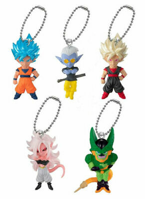 BANDAI Dragon ball UDM BURST 36 Mascot Keychain Complete set 5pcs Figure JAPAN