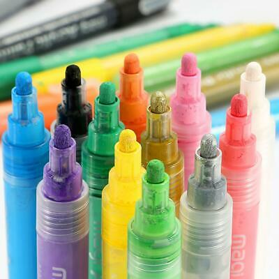 12x Acrylic Paint Marker Pen for Scrapbook Album Painting Xmas Card Making