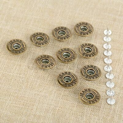 50Pcs 20mm Bronze Jeans Buttons Handbags Boots Buckles Clothes Leather Craft DIY
