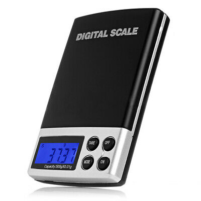 Silver Jewelry Electronic Gram Weight Balance Digital Pocket Scales LCD Display