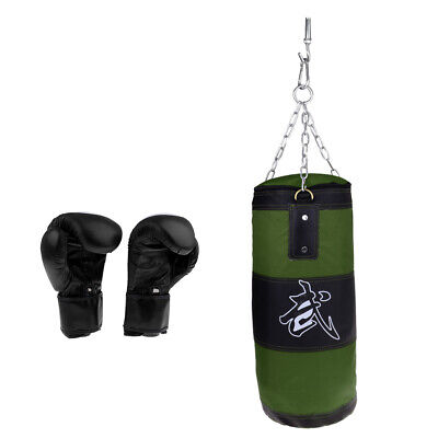 Empty Punching Bag with Boxing Gloves for Self Protection&Fitness Training