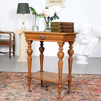 Antique Swedish Gustavian Side Table Lamp Console Table 19th Century Pine Oak