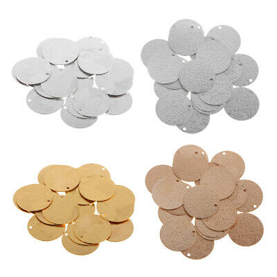 60 Pcs Round Blank Stamping Charms Blanks Coins Jewelry Making DIY 6//15//20mm