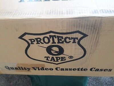 100 - VHS Video Storage Boxes clear plastic video tape cases...Brand new!