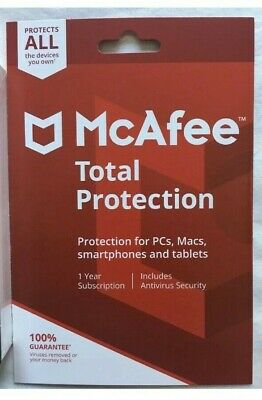 McAfee Total Protection 2019 ALL DEVICES YOU OWN - OFFICIAL RETAIL CARD