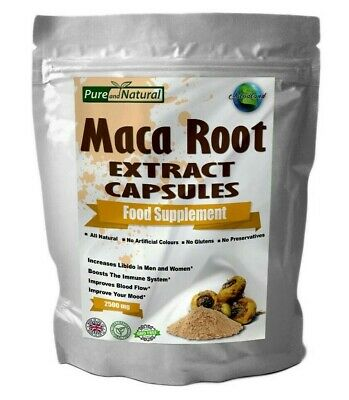 Maca Root Extract 2500mg Capsules High Strength | Sexual Health Energy | Libido