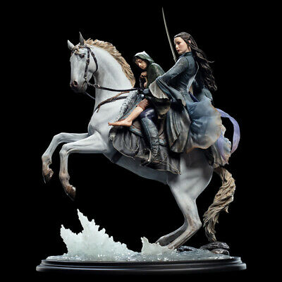 WETA Lord of the Rings Arwen and Frodo on Asfaloth Statue Figure NEW