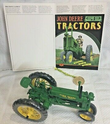 JOHN DEERE UNSTYLED MODEL B PRECISION TRACTOR1/16 Collector's Coin, Booklet NIB