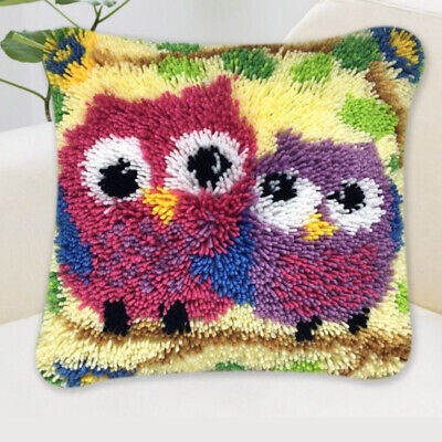 Square Latch Hook Kits Crocheting Animal Pillow Cushion Embroidery Package