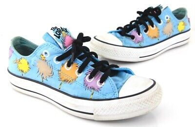 1257770f4ca9 Converse Dr. Seuss The Lorax All Star Chuck Taylor Shoes Mens 5.5 Women 7.5  EUC