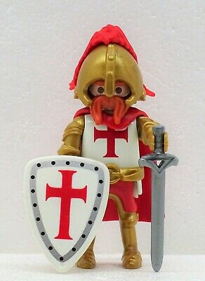 Duke of Crusader Knights Templar a Playmobil to Crusader Templar Red Gold