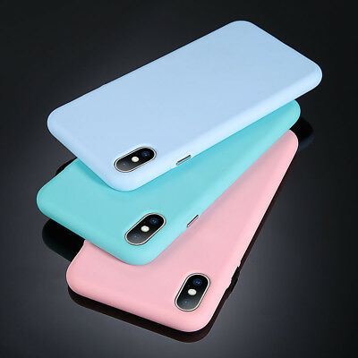 For iPhone 11 XS Max XR 8 7 Plus Ultra Thin Slim Soft Rubber Silicone Case Cover