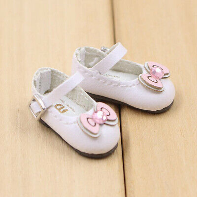 Cute Bowknot/Lace Up/Ankle Belt PU Leather Shoes Snow Boots for 12'' Blythe Doll