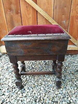 Antique Oak Box Stool Joint Stool Project