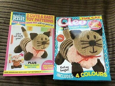 CLEO THE CAT Knit Kit And Knitting Pattern / Fluffy Yarn