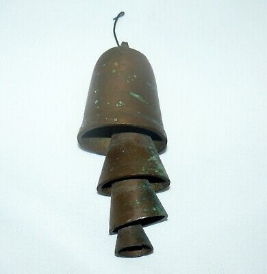Antique Copper Temple Bell Set of Bells