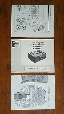 Allied Radio Knight Kit Tube Tester Owners Manual 83YX142/83YX143