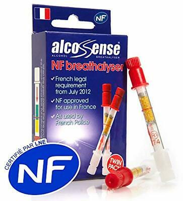 AlcoSense French NF Certified Breathalyzers for France - twin pack