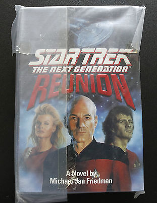 Star Trek Tng Reunion 1St Edition Hardback Book Novel (1991)