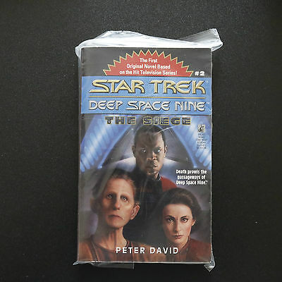 Vintage Star Trek Dsn The Siege Paperback Book Novel (1997)