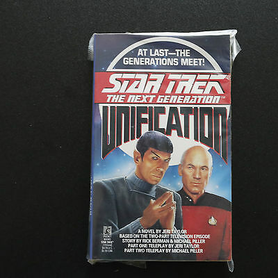 Vintage Star Trek Tng Unification Paperback Book Novel (1990)