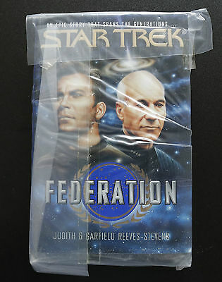 Vintage Star Trek Federation (Kirk & Picard) Hardback Book Novel (1994)